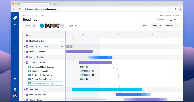 JIRA Software pantalla de trabajo