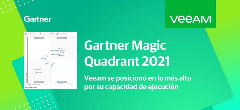 Veeam, lider del Cuadrante Mágico de Gartner 2021