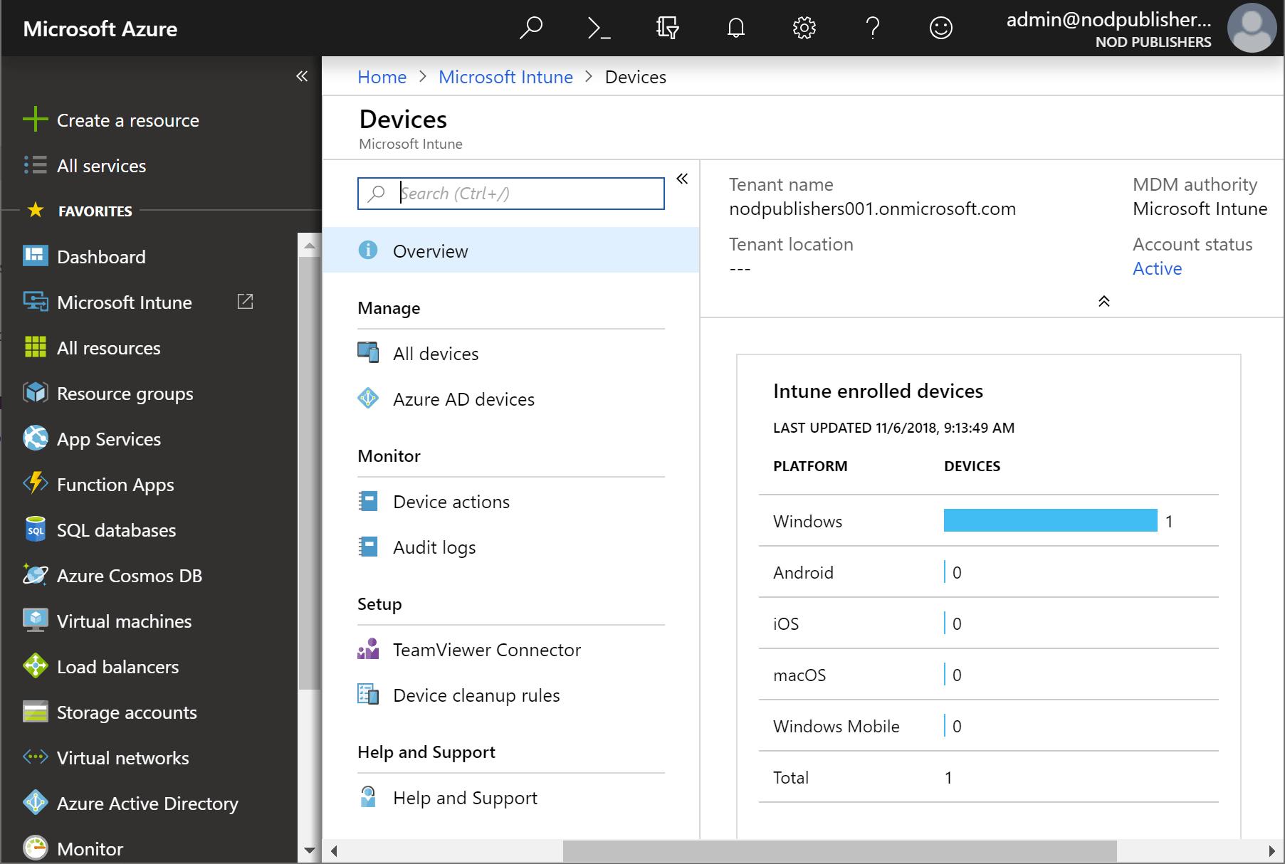 Microsoft Windows Intune - Pantalla